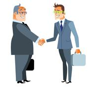 Business handshake deal. Finance and contract Stock Illustration