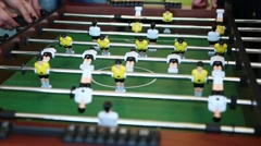 Close-up of table football. Stock Footage