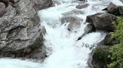Summer mountain river waterfalls Stock Footage