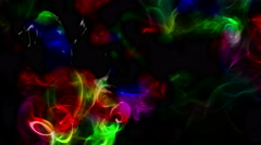Abstract Colorful Fluid Smoke Element Turbulence - stock footage