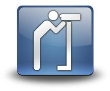 Icon, Button, Pictogram Viewing Area - stock illustration