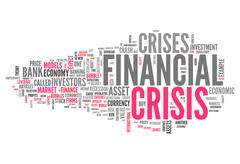 Word Cloud Financial Crisis - stock illustration