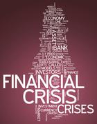Word Cloud Financial Crisis Stock Illustration