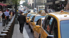 Taxi Line at Grand Central Stock Footage