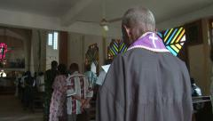 Church service with pastor Nigeria - stock footage