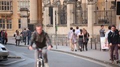 Oxford town centre Stock Footage