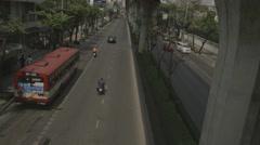 Traffic on Phahon Yothin Road near AIS Office Stock Footage