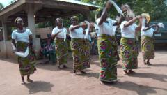 Nigerian women dancing: feet shot 2 Stock Footage