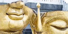 Part of Buddha idol for renovate - stock photo