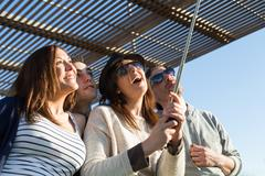 Young people making a selfie - stock photo