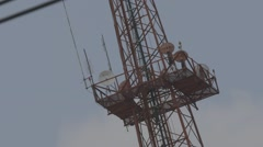 Telecommunication Tower at MCOT Office Stock Footage