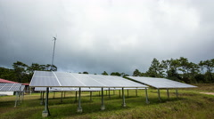 Solar energy is clean Stock Footage