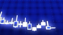 Candlestick Trading Chart Loop Stock Footage