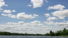 Clouds Over the Boundary Waters Stock Footage