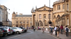Oxford city architecture, England, Europe Stock Footage