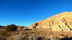 Southwestern Red Rocks Badlands Cathedral Gorge Stock Footage