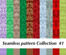 Seamless pattern collection Stock Illustration