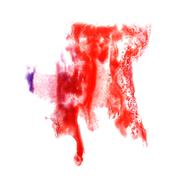 Stock Illustration of stain with purple, red watercolour paint stroke watercolor isola