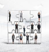 Partner  team integration Stock Illustration