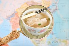 Chinese wonton soup Stock Photos