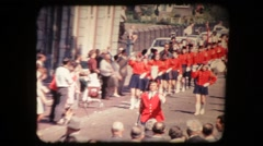 Holiday parade. Vintage 8mm Stock Footage