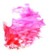 stain with watercolour pink, red paint stroke watercolor isolate - stock illustration