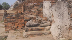 Wat Phra Sri Sanphet at the Ayutthaya Park in Thailand Stock Footage