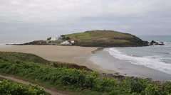 Burgh Island South Devon England UK near Bigbury-on-Sea and Challaborough Stock Footage