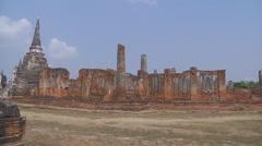 Wat Phra Sri Sanphet at the Ayutthaya Park in Thailand - stock footage