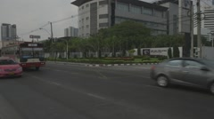 Traffic in front of MCOT Office (Slow Motion) Stock Footage