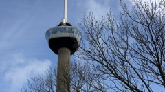 Rotterdam - Euromast TV Tower Stock Footage