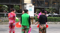 China folk dance, women in the dance Stock Footage