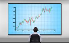 forex chart - stock photo