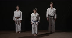 Karate kata begining Heian Nidan Stock Footage