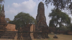 Wat Phra Ram at the Ayutthaya Historical Park in Thailand - stock footage