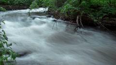 Running Minnehaha River Stock Footage