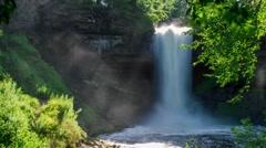 Minnehaha Falls and Mist Stock Footage