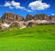 Dolomite peaks,Sella - stock photo