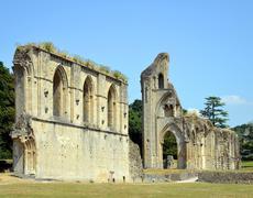 Glastonbury Abbey in Somerset Stock Photos