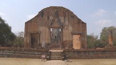 Wat Rachaburana at the Ayutthaya Park in Thailand Stock Footage