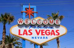 Welcome to Fabulous Las Vegas sign, Nevada - stock photo