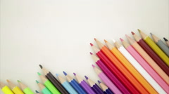 Stock Video Footage of Pencil crayons