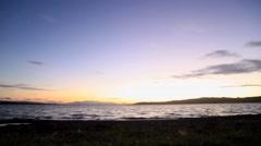 Lake Sunset Time Lapse Stock Footage