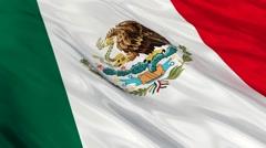 Mexico flag Seamless Stock Footage
