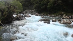 Glacier Blue Mountain River Stock Footage