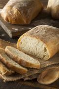 Crusty Homemade Ciabatta Bread - stock photo