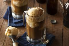 Refreshing Root Beer Float - stock photo