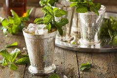 Refreshing Cold Mint Julep Stock Photos