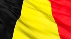 Belgium FLAG Seamless Stock Footage