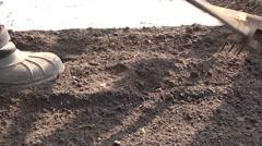 Weeding on Dry the Ground Plants. 4K UltraHD, UHD Stock Footage